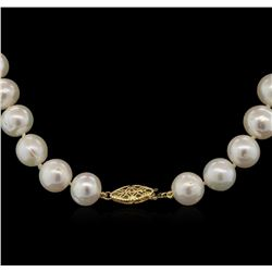 11MM Freshwater Pearl Necklace With 14KT Yellow Gold Clasp