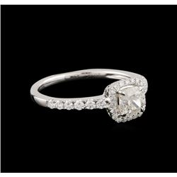14KT White Gold 0.83 ctw Diamond Ring