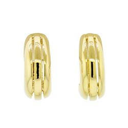 Indent Design Hoop Earrings - Gold Plated