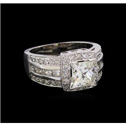 2.98 ctw Diamond Ring - 14KT White Gold