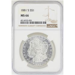 1881-S NGC MS 66 Morgan Silver Dollar