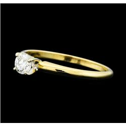 0.35 ctw Diamond Solitaire Ring - 14KT Yellow Gold