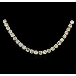 18KT Yellow Gold 12.11 ctw Diamond Necklace