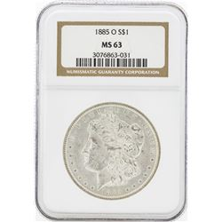 1885-O MS63 NGC Morgan Silver Dollar