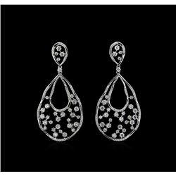 2.19 ctw Diamond Earrings - 14KT White Gold