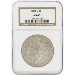 1883-O MS63 NGC Morgan Silver Dollar