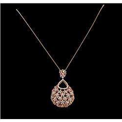 14KT Rose Gold 2.36 ctw Diamond Pendant With Chain