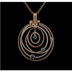 1.91 ctw Diamond Pendant With Chain - 14KT Two-Tone Gold