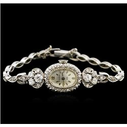 Bulova 14KT White Gold Diamond Vintage Ladies Watch