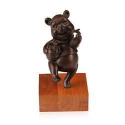 Disney Winnie the Pooh Bronze Vintage Sculpture by Harry Holt