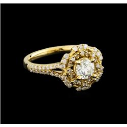14KT Yellow Gold 0.91 ctw Diamond Ring