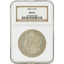 1904-O MS64 NGC Morgan Silver Dollar