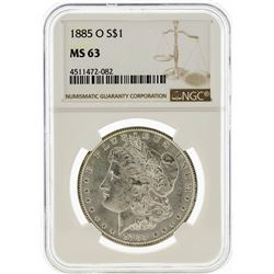 1885-O NGC MS63 Morgan Silver Dollar