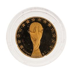 1990 Italy Football Institute Gold Coin Brand of the State