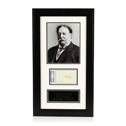 William H. Taft Signed Cut Display PSA Certified