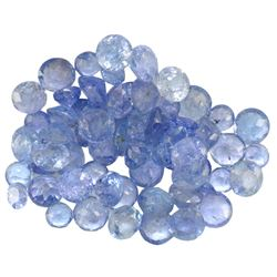 14.47 ctw Round Mixed Tanzanite Parcel