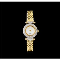 Geneve 14KT Gold 1.10 ctw Diamond Ladies Watch