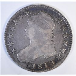 1818 CAPPED BUST HALF DOLLAR, VF+