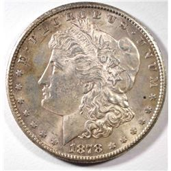 1878-S MORGAN DOLLAR, CH BU TONED