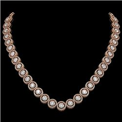 30.78 CTW Diamond Designer Necklace 18K Rose Gold - REF-4766H9A - 42579