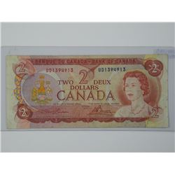 Rare - 1974 Bank of Canada $2 OFFSET (KER).