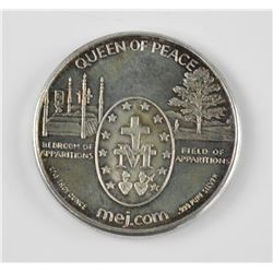 .9999 Fine Silver 'Queen of Peace' Medal