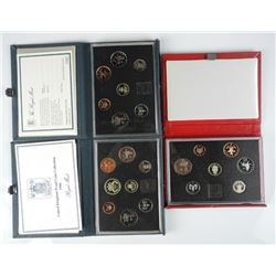 3x British Proof Mint Sets (1985-1986-1988)