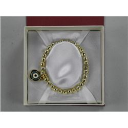 Ladies .925 Silver Bracelet (Gold Tone) Bead Set.