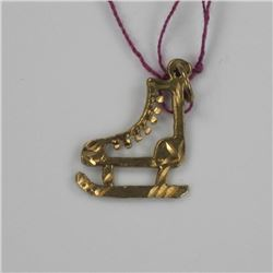 10kt Gold Estate Skate Pendant.