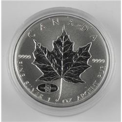 .9999 Fine Silver Maple Leaf $5.00 with 1908-1998