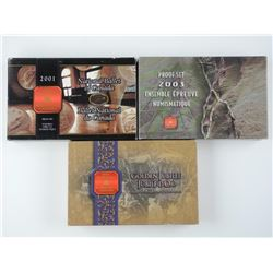 3x RCM Proof Coin Sets: 2001, 2002, 2003