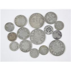 15x Mix of Canadian Silver Coins. Mix of George -