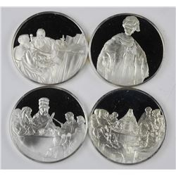 4x 925 Sterling Silver Rembrandt Proof Struck Bull