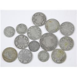 14x Canada Old Silver Coins - Mix of George and Ed