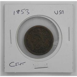 1853 USA Large Cent.
