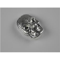.999 Fine Silver 1oz Skull - Hand Poured in Canada