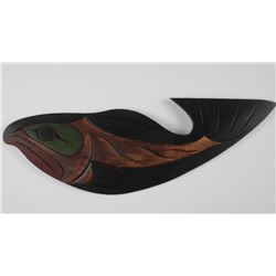 Original Haida Carving Signed by Artist au Verso.