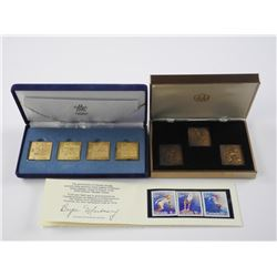 Olympic Stamp Collection - 3x Bronze, 4x 24kt Over