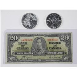 Lot - Bank of Canada 1937 Twenty Dollar Note. G/T