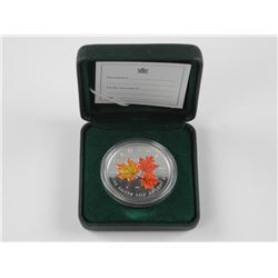 RCM - 2001 Coloured Maple Leaf $5.00 Coin with C.O