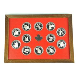 12x 925 Sterling Silver Provincial Medals Proof 'D