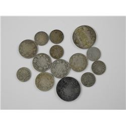 14x Canada Silver Coins - Mix of George and Victor