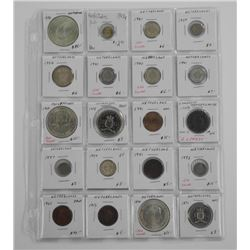 20x World Coins Mix of Silver and Countrize. (MGR)