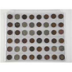 48x USA 1 cent and 5 Cent Indian Head Coins