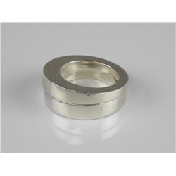 Estate 2x Solid Sterling Silver Band Rings. Size 8