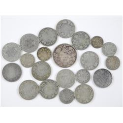 21x Canada Silver Coins. Mix of George and Victor