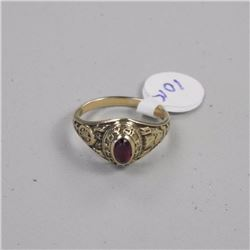 Estate Ladies 10kt Ring - Oval Cabochon Synthetic