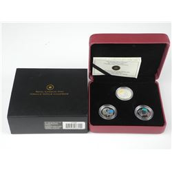 RCM 2011 - 3 Coin Set 925 Sterling Silver, Conserv