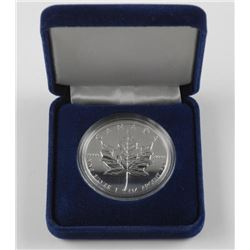 1996 .9999 Fine Silver $5.00 Maple Leaf Coin - Pro