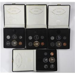 4x (1867-1967) Canada Coin Set with Silver.